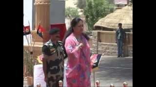 Suraj Sankalp Yatra-Vasundhara Raje Ji In Tanot Mata Ji Mandir On 15th July, 2013.