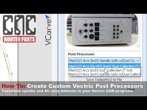 Make Your Own VCarve/Aspire CNC Post Processor For Dust Collection, Operator Messages, And More