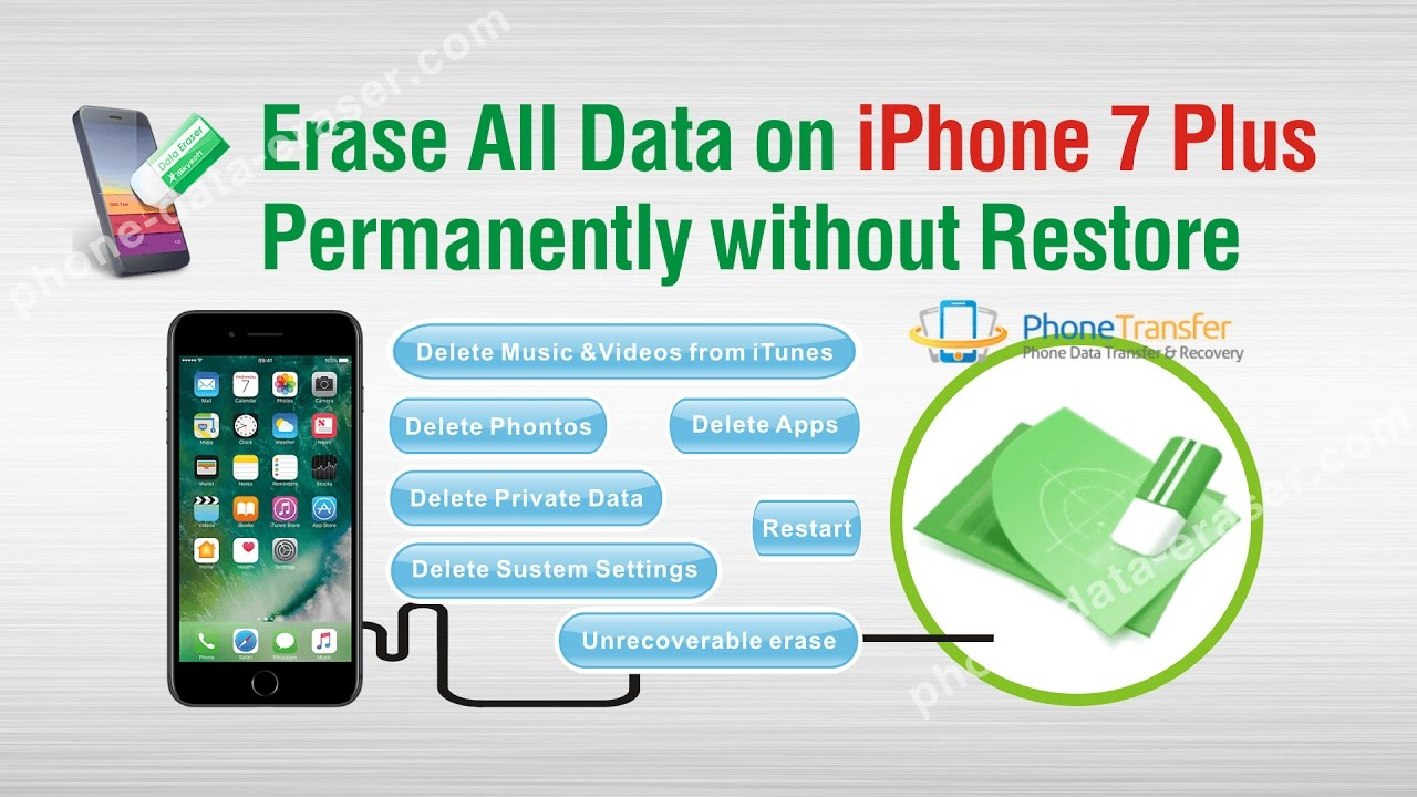 how to delete data from iphone how to erase all data on iphone 7 plus permanently without 18714