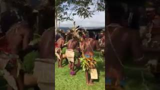 Papuan Villagers Dance at Kokoda Anzac Day Ceremony