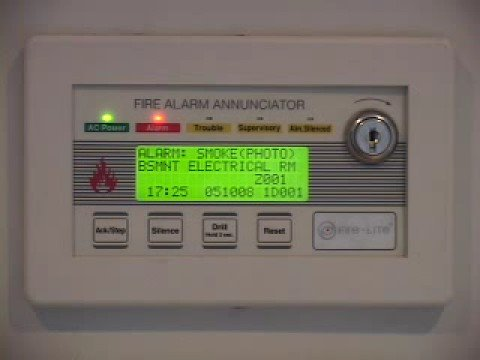 Fire Lite Lcd 80f Annunciator Voice Evacuation Youtube