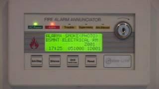 Fire Lite LCD-80F annunciator/ Voice evacuation