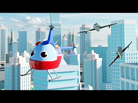 SUPER HELI vs JETS FUNNY CARTOON CAR STORIES