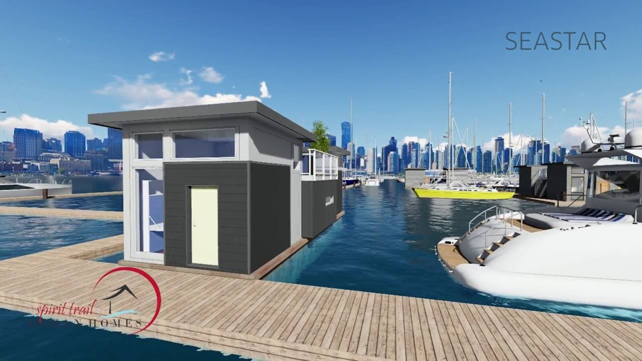 Minimalist vancouver bc float home for sale floating for Minimalist homes for sale