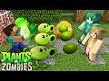 Monster School : GIRLS VS BOYS Plants vs. Zombies challenge - Minecraft Animation