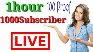 youtube channel per 1hors min 1000  subscriber badhaye|| 100 Proof#Tech4shani