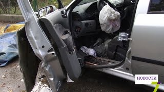 видео ДТП в Одессе: три разбитых авто, испорченная свадьба и скорая