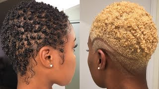 How to Safely Bleach Natural Hair Black to Blonde | Dyeing Short Natural Hair | Nia Hope
