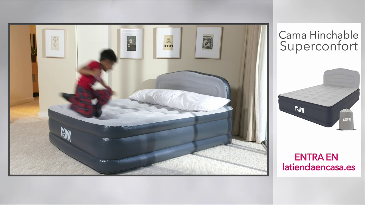 Lit Gonflable électrique Intex Premaire Dream Support 2 Personnes Yawn Air Bed Product Demo High Street Tv By High Street Tv