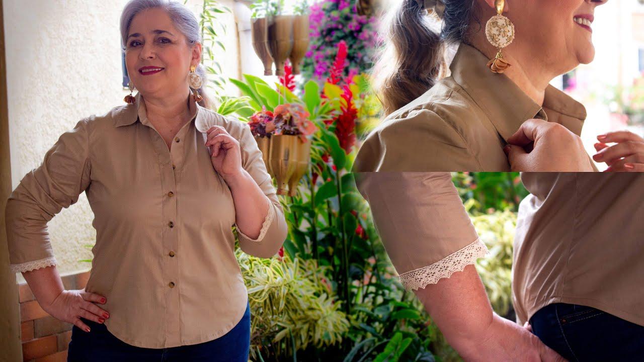 Blusa camisera muy fácil de hacer Con Luzkita/Tutorial de Costura completo/Idea de negocio