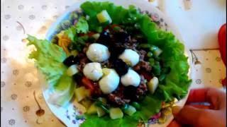 Салат с тунцом. Простой салат с тунцом