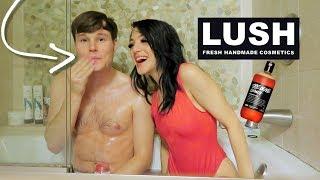 Testing Lush Products W/ My Boyfriend! Vlogmas Day 3! Niki Demar