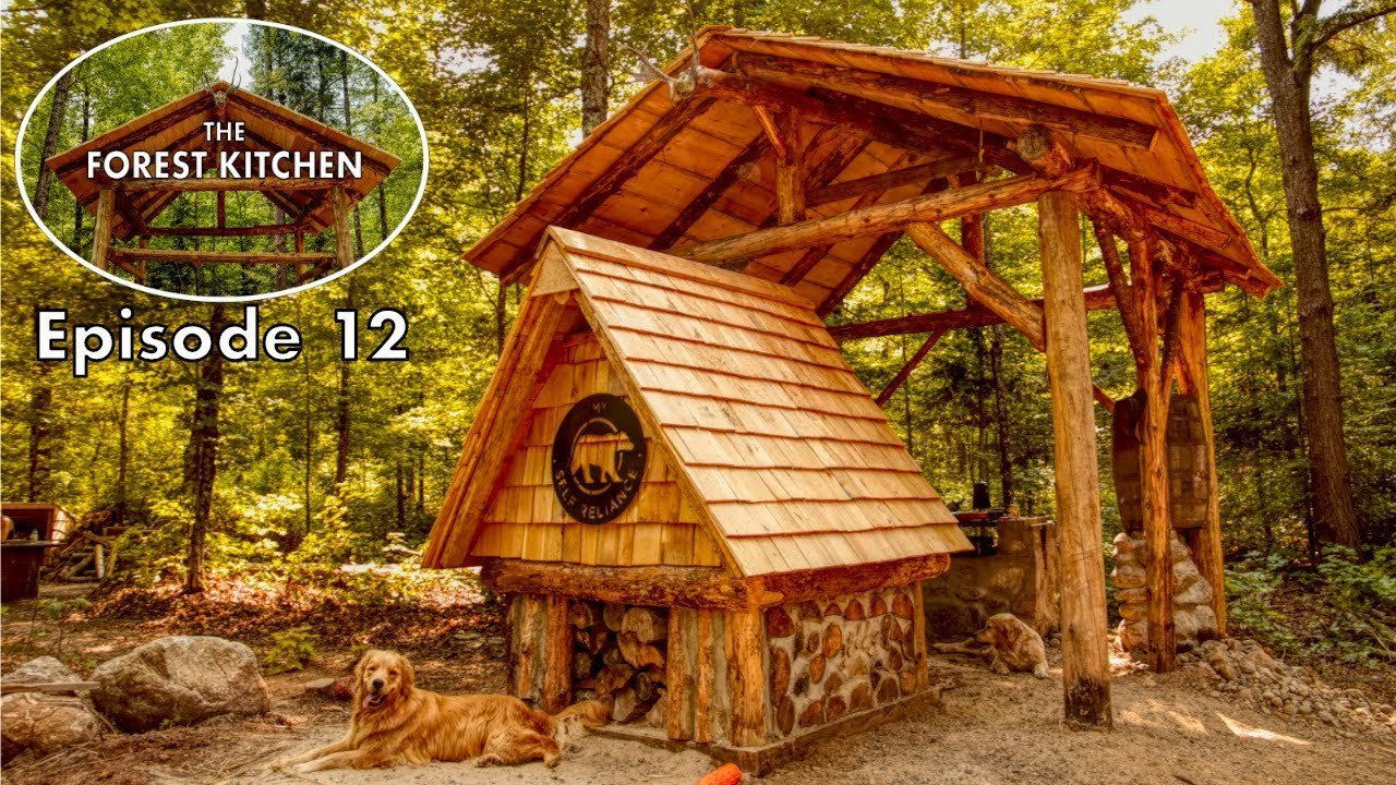 Diy Cedar Shingle Roof Off Grid Log Cabin The Forest
