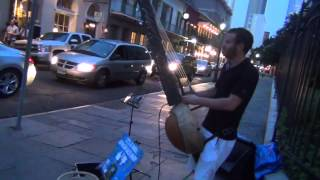 African Bass Harp (KORA) in the New Orleans street