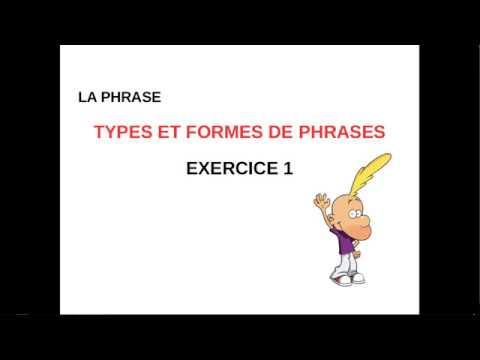 Exercice 1 Types Et Formes De Phrases Youtube