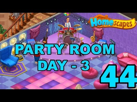 HOMESCAPES STORY WALKTHROUGH - PARTY ROOM DAY 3 - GAMEPLAY - #44