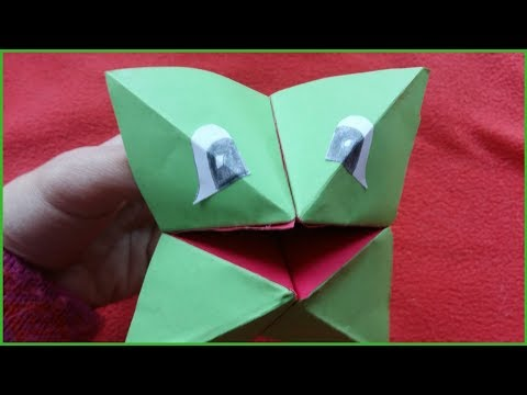 Origami Frog - How to Make Paper Toys - Paper Animals
