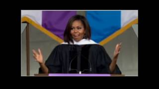 First Lady Michelle Obama at City College of New York 2016 Commencement Ceremony