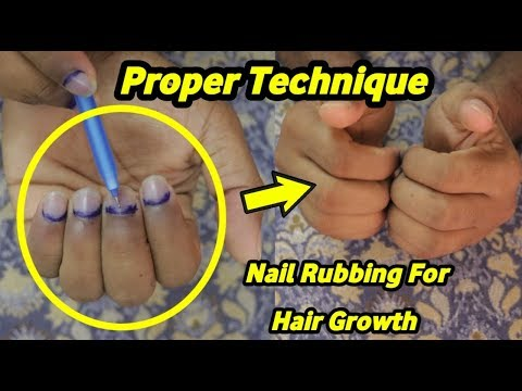 Nail Rubbing Proper Technique - Tip or Root? Balayam Yoga For Hair Growth | ABF Tube