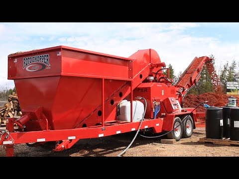 Rotochopper CP-118: Grinding And Coloring Mulch