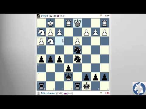 Parties d'échecs commentées en direct #2 contre Cyryd
