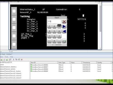 Redlion G3 to Kepware OPC server via Modbus/TCP