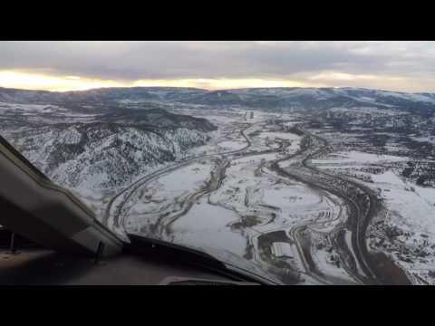 Aterrizaje en Eagle County Regional, Colorado. USA