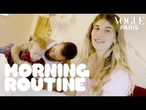 Veronika Heilbrunner's morning routine: family breakfast, skincare, sport | Vogue Paris