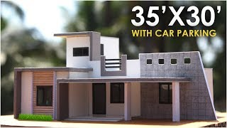 35X30 | MODERN RESIDENTIAL BUILDING with CAR PARKING | 2BHK |