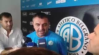 Diego Osella, DT de Belgrano en la previa del partido con Racing