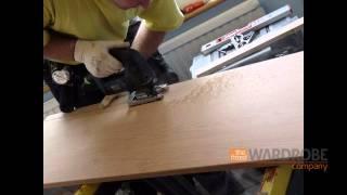 Built In Bedroom Furniture Gloss White Oak