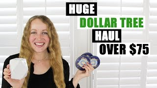 HUGE DOLLAR TREE HAUL OVER $75 Cute New Finds And Home Decor Items