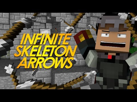Minecraft Redstone INFINITE SKELETON ARROWS! Collect Fired Skeleton Arrows! (Minecraft Redstone)