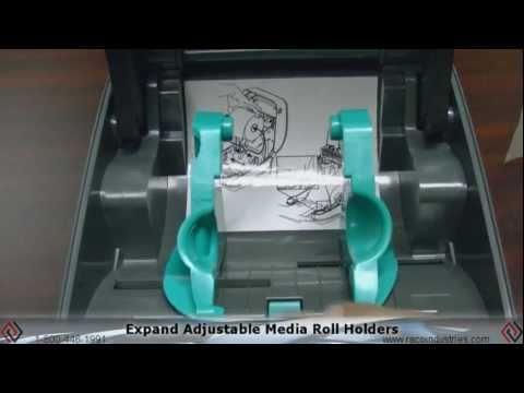 Loading Media In The Zebra GK420t Thermal Transfer Printer