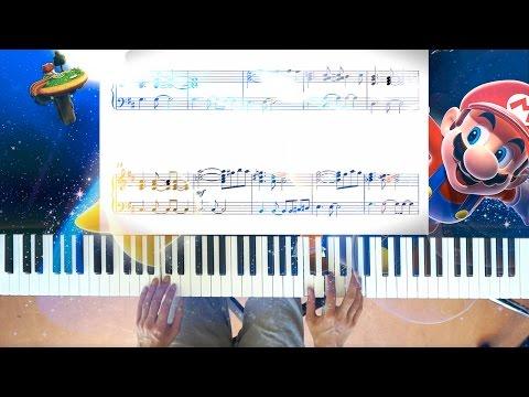 Mario Galaxy Gusty Garden piano + sheet music