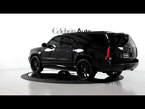 2007 Cadillac Escalade Esv 6 2l Blk Blk Rear Ent Info Pkg