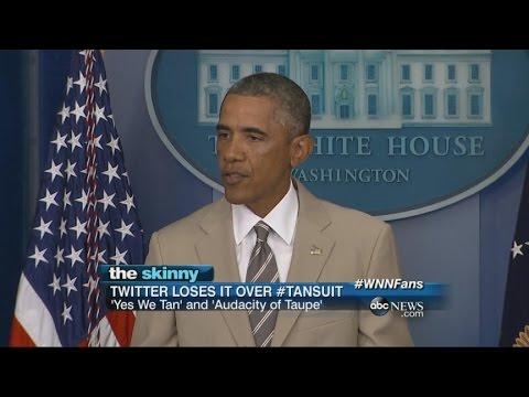 SKINNY: President Obama's Tan Suit Lights Up Social Media