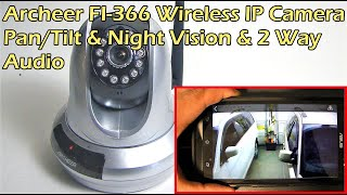 ARCHEER 720P Wireless IP Camera with Pan/Tilt & Night Vision