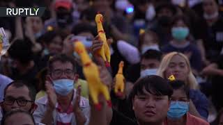 'We don't want to be slaves' | Thai protesters target monarch's wealth in Bangkok rally