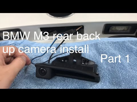 BMW M3 Rear Back Up Camera Install   Part 1 (BimmerTech)