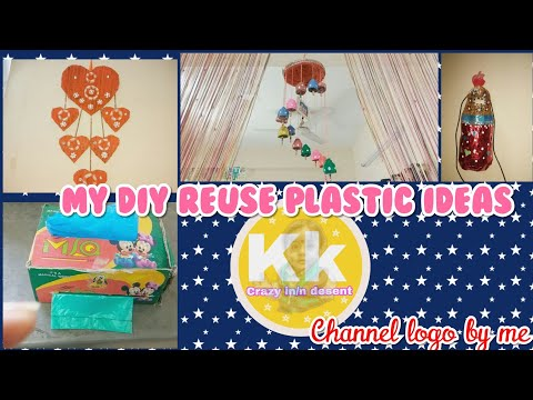 My DIY##paper and plastic reuse decorative ideas for home and my love preview