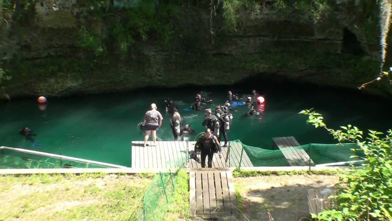 Scuba Dive Blue Grotto Springs Williston Florida Youtube