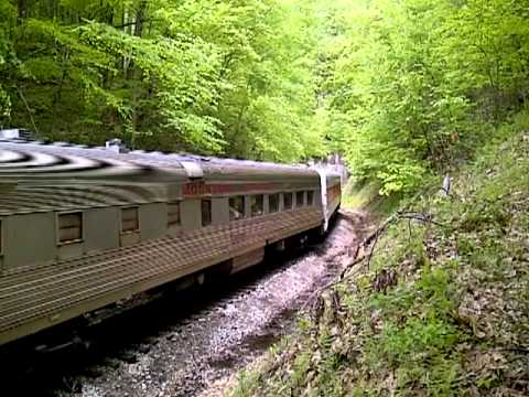 New Tygart Flyer Train at Kelly Mountain Tunnel - Elkins WV - May 12, 2012