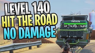 FORTNITE - Niveau 140 Hit The Road Event Without Taking Any Damage (Impossibly Spotless Finish Quest)