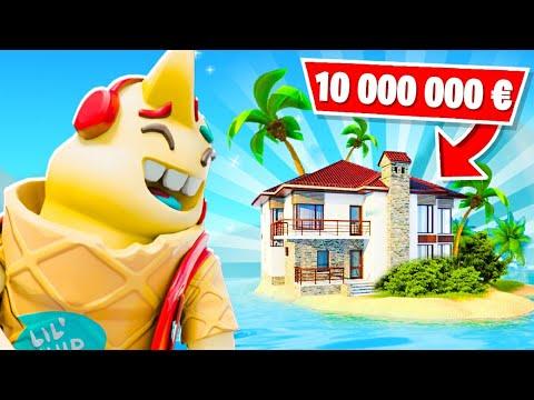 JE VOUS PRÉSENTE MA NOUVELLE ÎLE à 10 000 000 € !! Elle est INCROYABLE !! (Fortnite Saison 6)
