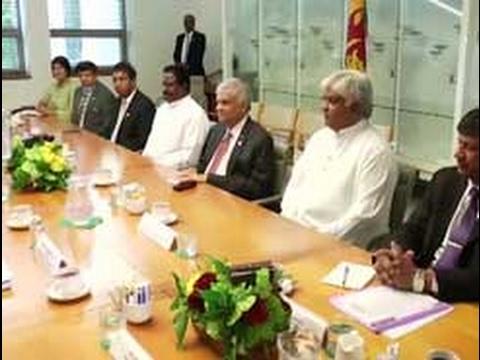Sri Lankan PM and delegations hold bilateral talks in Australia