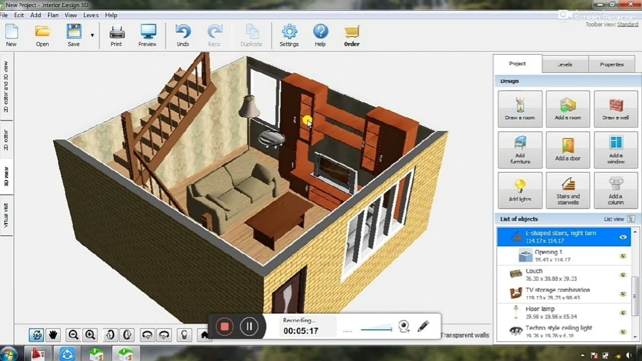 Interior Design Software Reviews Your Dream Home In 3d Easily Used Steps By Step Youtube
