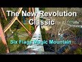Six Flags Magic Mountain The New Revolution Classic Roller Coaster On Ride Front Row HD POV