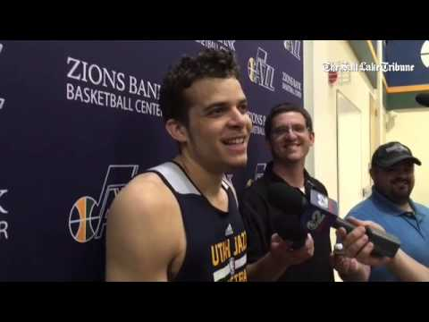 RJ Hunter updates reporters on his father