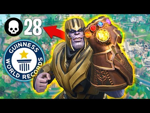 WORLDS MOST THANOS KILLS  in INFINITY GAUNTLET!! (Fortnite Battle Royale)